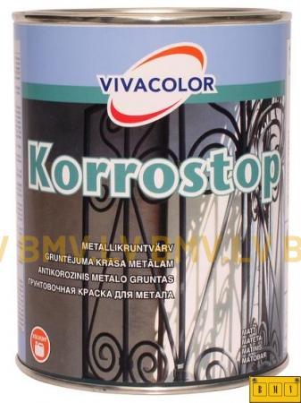 Pretkorozijas gruntskrāsa metālam Vivacolor Korrostop 1L  8.55